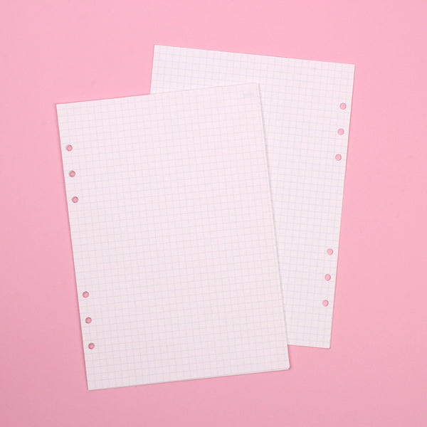 A5 refill Grid note gray
