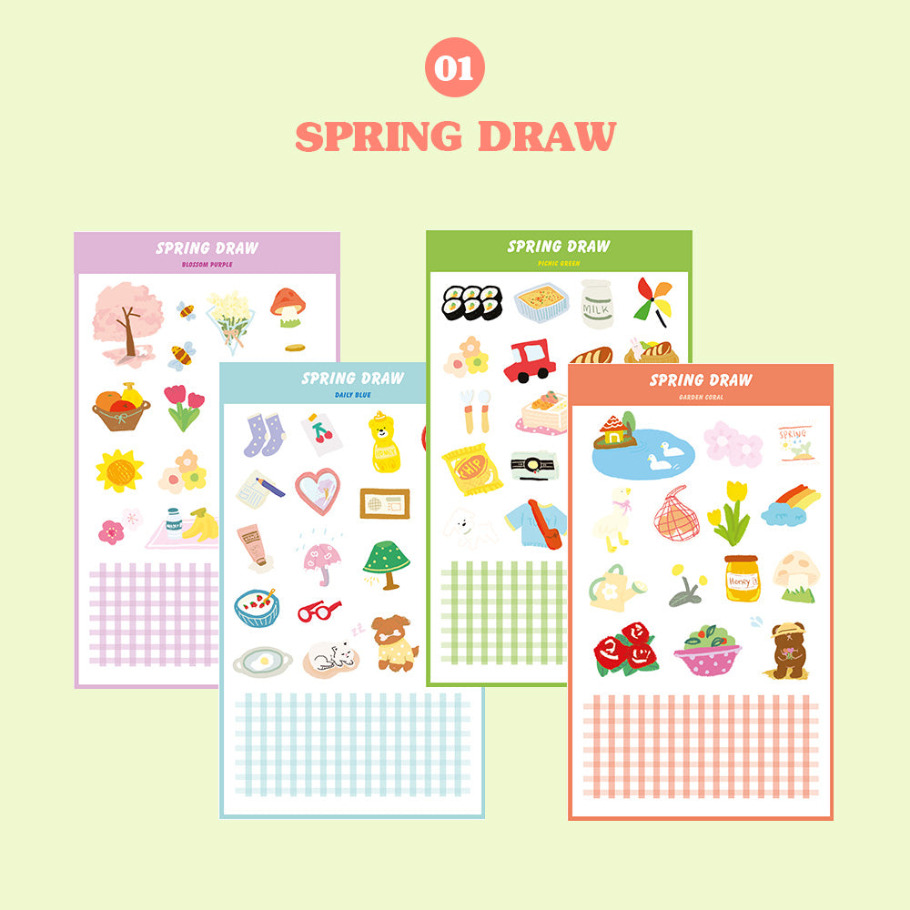 [Lucapad] Spring Draw Goodnote Sticker