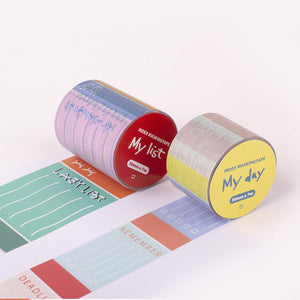 Daily index masking tape