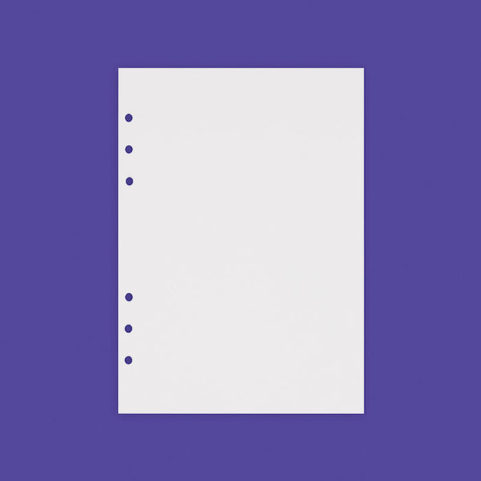 A5 refill blank note