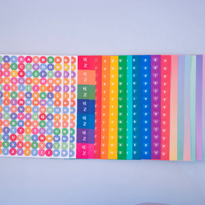 Rainbow Sticker Pack - 9 Piece Set
