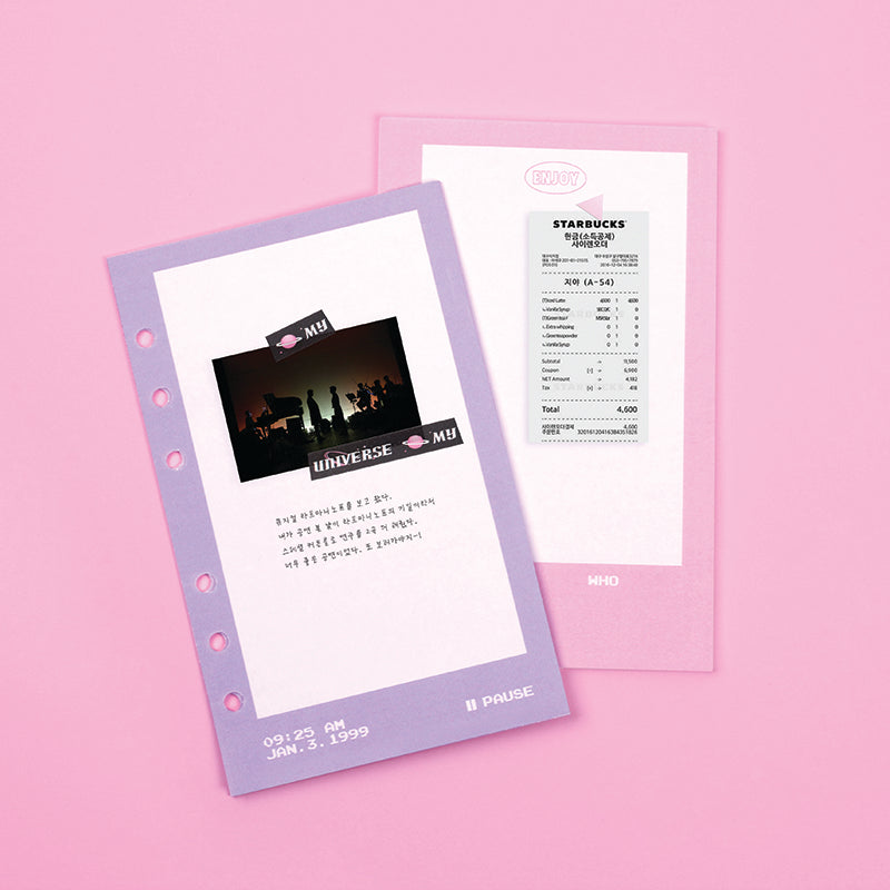 Archive refill video frame note