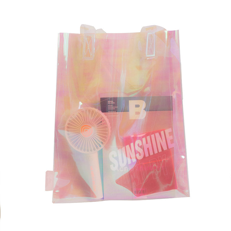 Lazy Lounge Sunshine Twin PVC Bag - Pink Hologram
