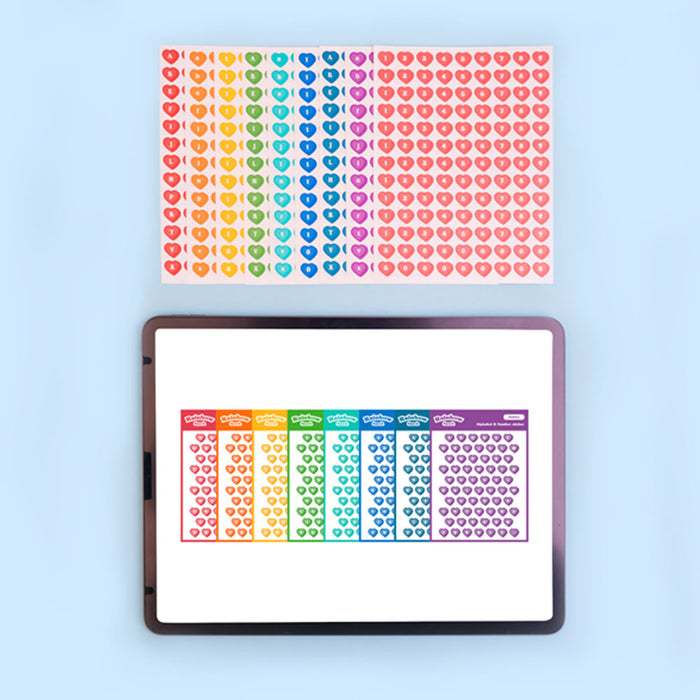[Lucapad] Rainbow Snack Alphabet Goodnote Sticker