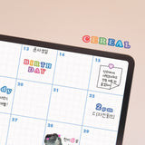 [Lucapad] Rainbow Cereal&Pop Candy Alphabet Number Goodnote Sticker