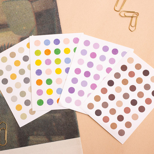 Polka dots Sticker_Tea Series