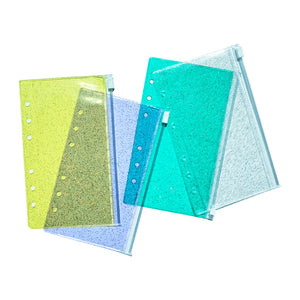 Archive glitter zipper bag