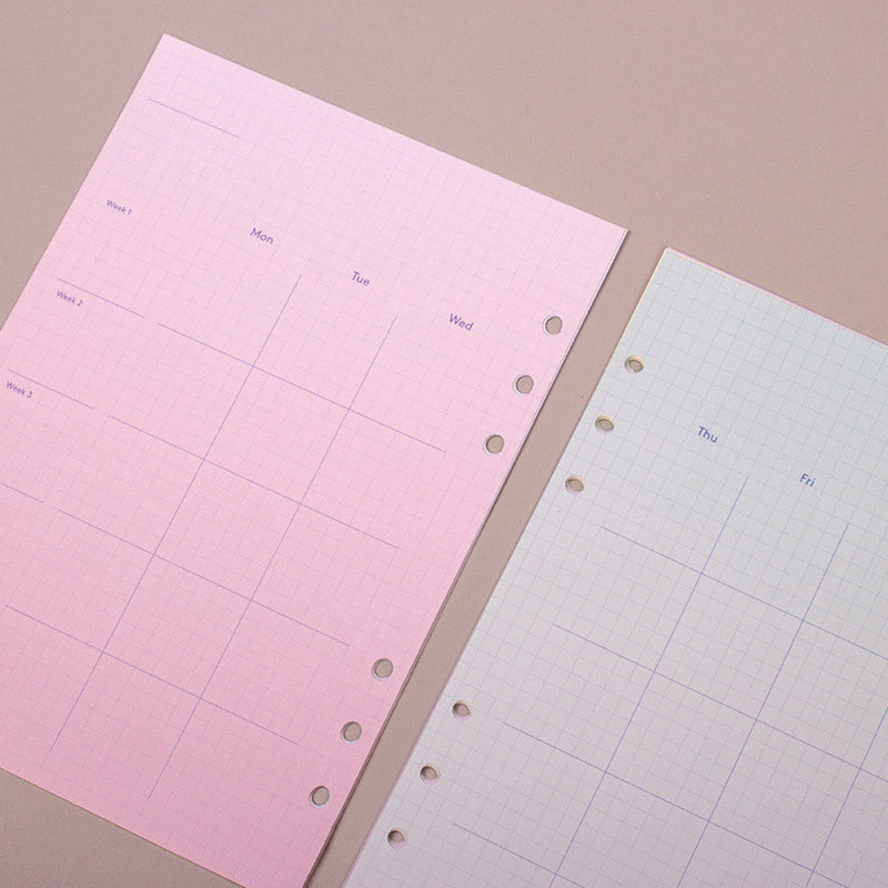 A5 refill gradation monthly