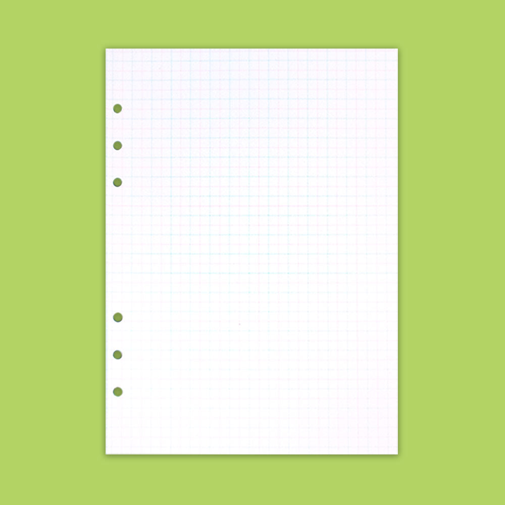 A5 Grid note refill pink green