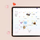 [Lucapad] Rainbow Snack Month Day Date Alphabet Goodnote Sticker