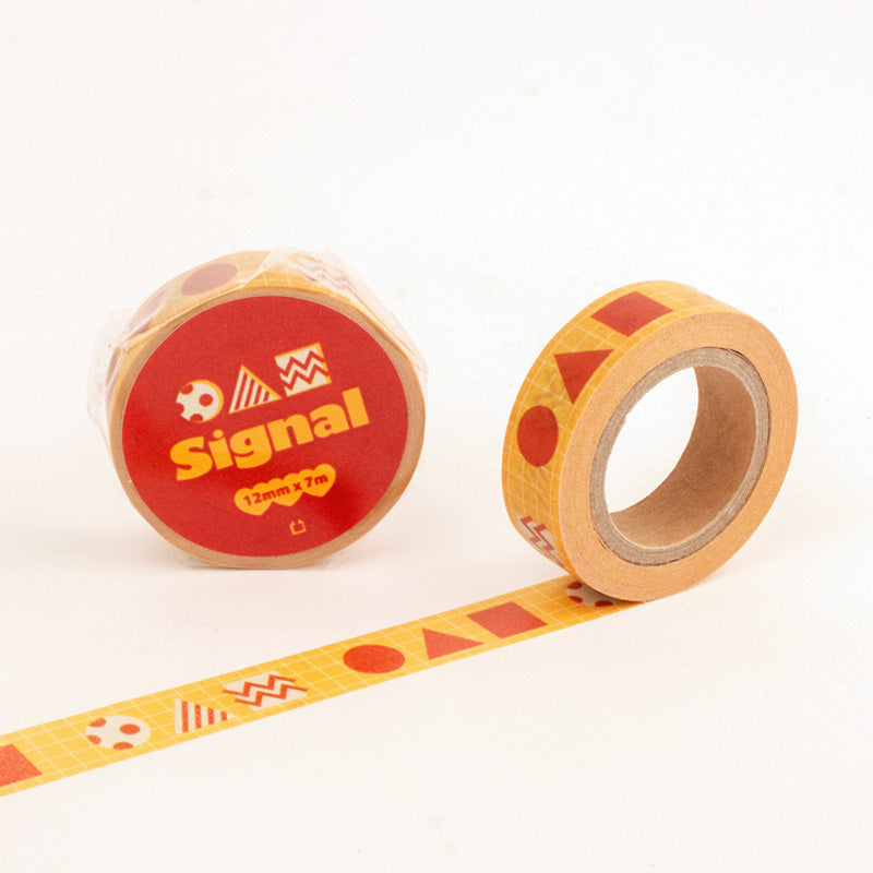 Red sign Masking Tape