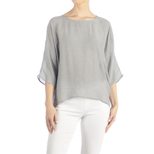 Harmony Side Tie Top - Grey