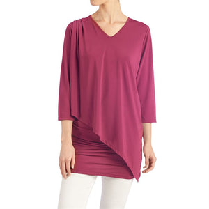 Amazing Double Layer Top - Berry
