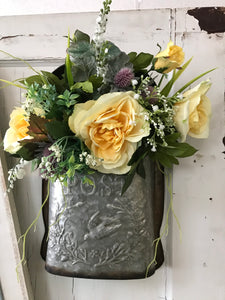 Custom Design - Mailbox Filled with Yellow Roses