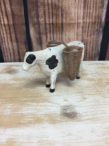 Farm Animal with Baskets - Cow