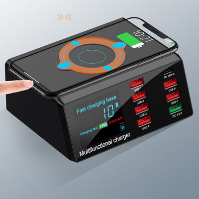 USB Digital Display Charging Dock Station