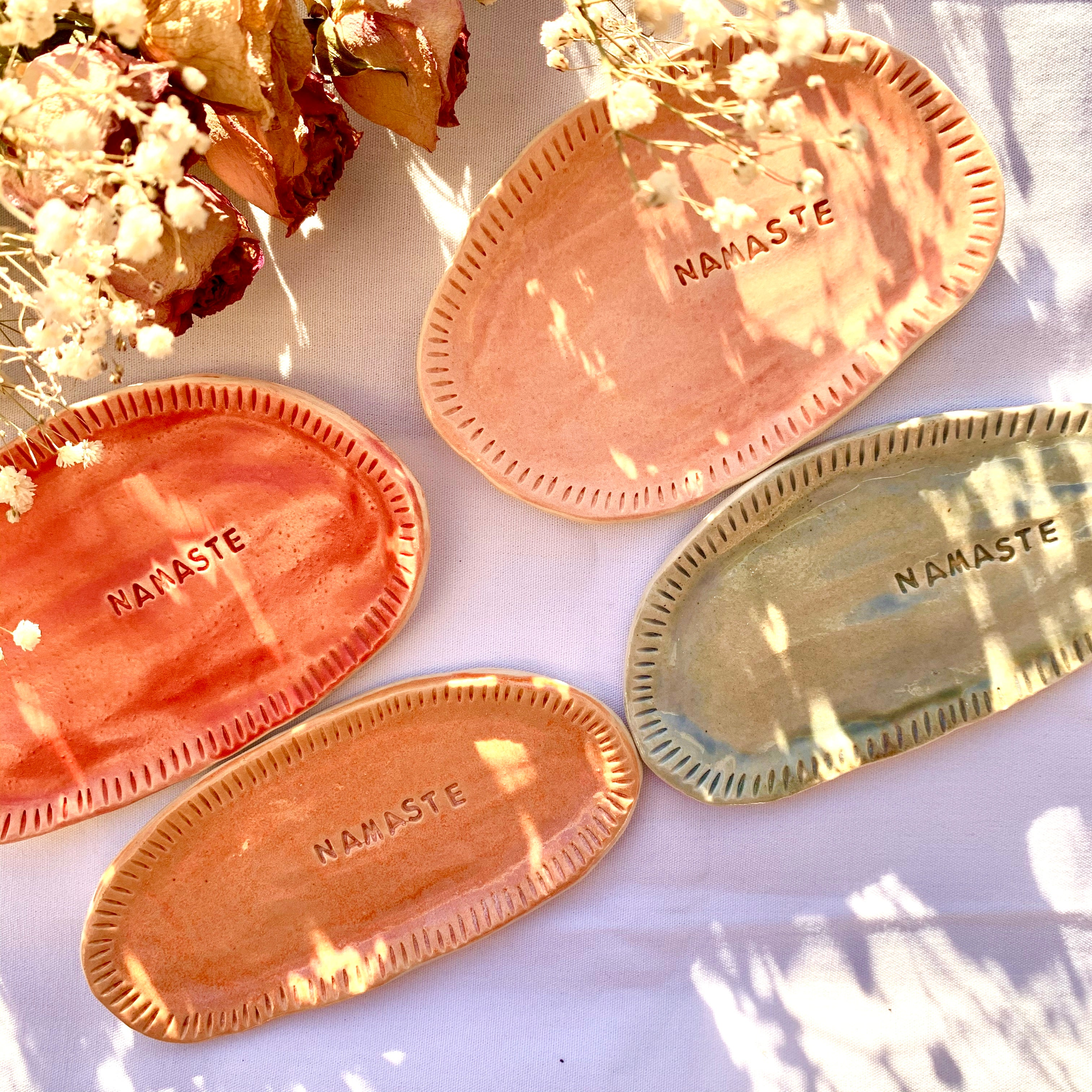 Jewellery Dish- Namaste - Thecrystalproject