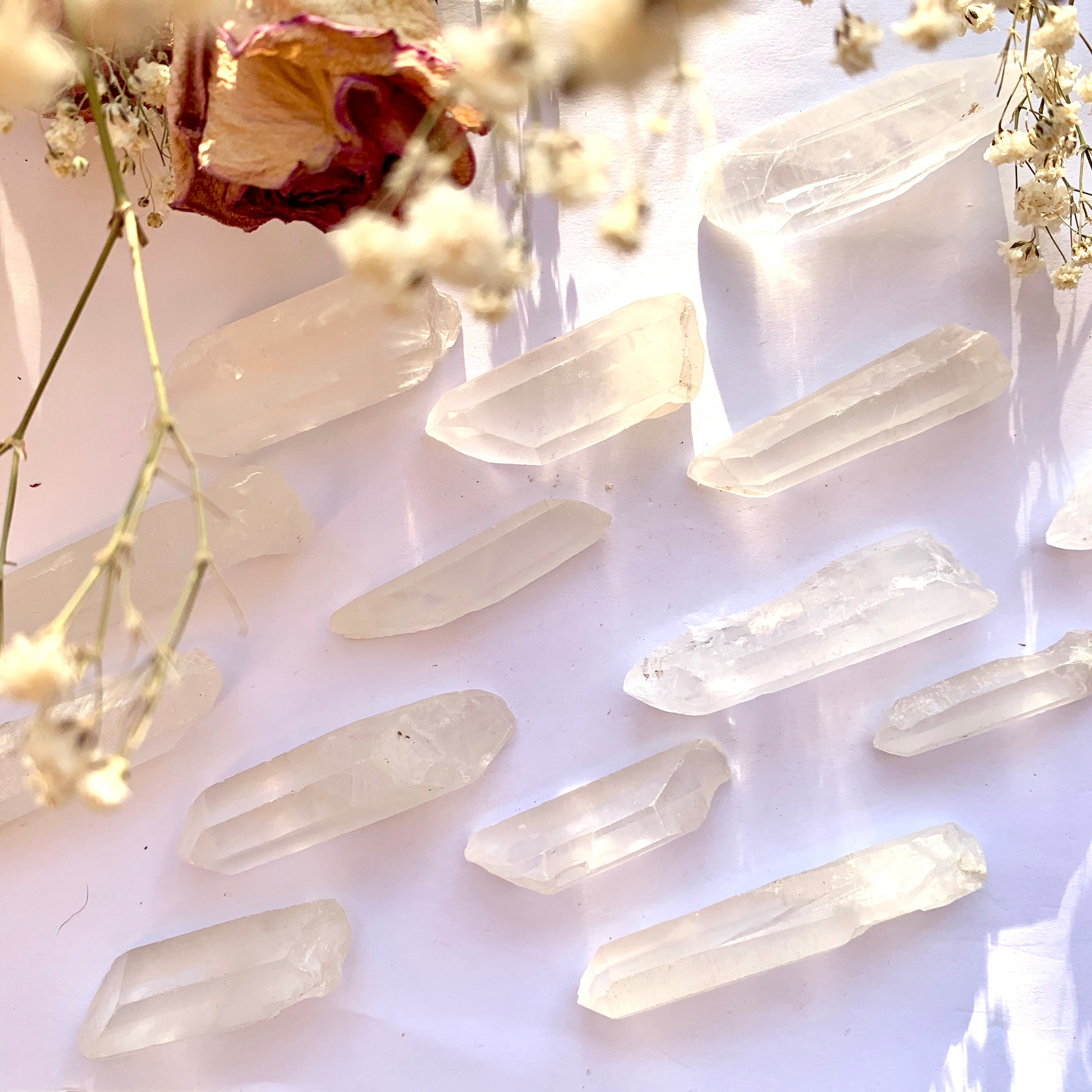 Clear Quartz Points - Thecrystalproject