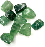 Green Fluorite Tumbled - The Crystal Project
