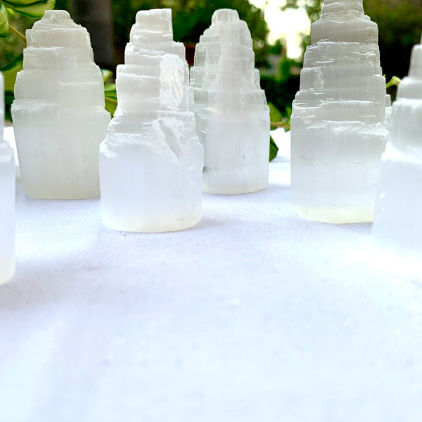 Selenite Mini Towers - Thecrystalproject