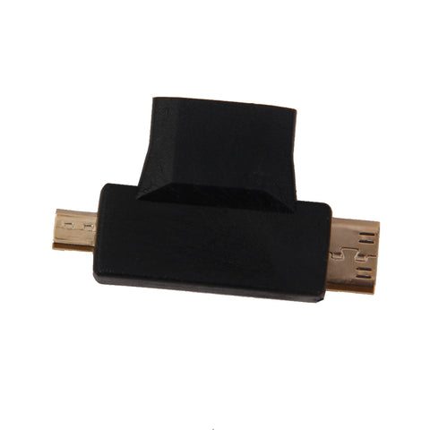 3 in 1 HDMI 1.4 Female To Mini / Micro Male Converter Gold Plated Adapter