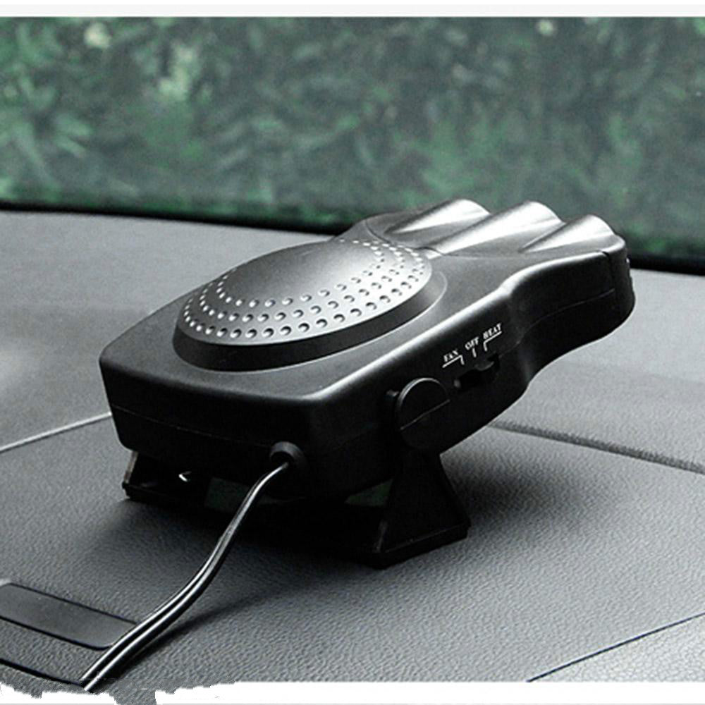 2 in 1 12V Car Portable Ceramic Heating Cooling Heater Fan Defroster Demister Air Blower