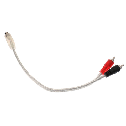 11'' RCA Audio Cable ''Y'' Adapter Splitter 1 Female Jack to 2 Male Plugs Clear