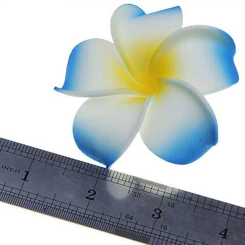 Image of Women Girls Ladies Plumeria Flower Foam Hair Clip Pin Headwear Hair Accessory Purple