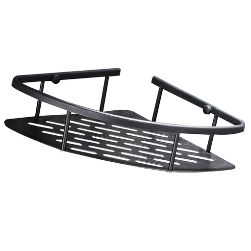 Triangle Shower Shelf Bathroom Storage Basket Rack Rust Resistant Black