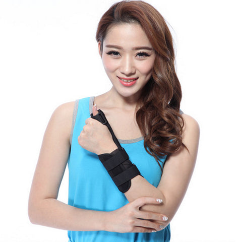 Image of Long Lasting Reusable Left Hand Wrist Thumb Brace Support Splint For Tenosynovitis Carpal Tunnel Ligament Injuries Black Size M