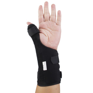 Long Lasting Reusable Left Hand Wrist Thumb Brace Support Splint For Tenosynovitis Carpal Tunnel Ligament Injuries Black Size M