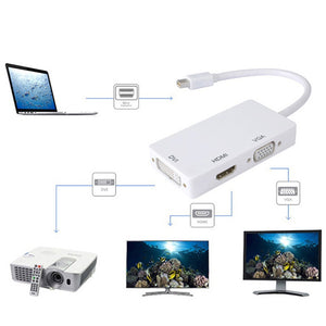 3In1 DP Male to VGA DVI HDMI Female Converter Adapter Cable For MacBook #2