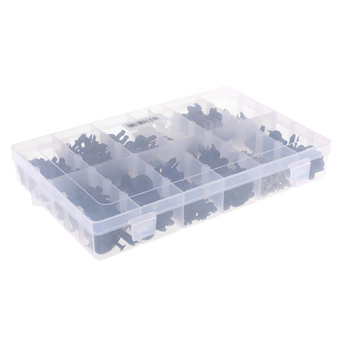 Image of 350 Piece Automotive Plastic Push Pin Rivet Trim Clip Panel Body Interior Assortment with Storage Box