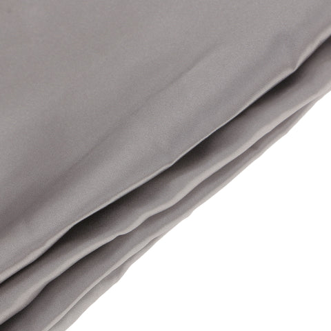 Image of Soft Comfortable Shrink Resistant Solid Color Satin Silk Bedding Duvet Cover+Flat Sheet+Pillow Case FOR 4ft Twin Size Bed Gray