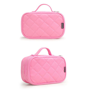 Women Girls Travel Cosmetic Makeup Bag Toiletry Bag Pink