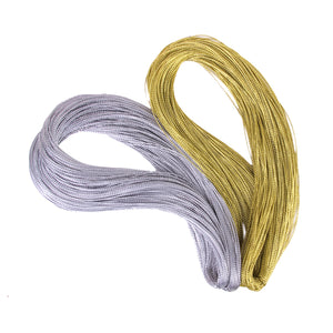 Multifunctional Golden String Metallic Jewelry Cord Card Braid 100 Yards