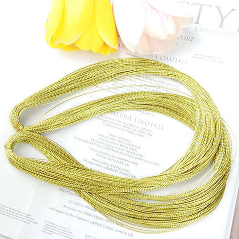 Image of Multifunctional Golden String Metallic Jewelry Cord Card Braid 100 Yards