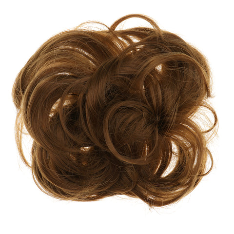 Image of Women Girls Artificial Hairs Wavy Curly Drawstring Synthetic Hair Bun Cover  Hairpiece Hair Extension #6