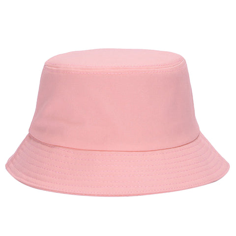 Image of Men Women Outdoor Summer Wear Fashionable Cotton Fishing Hunting Summer Bucket Cap Hat Pink