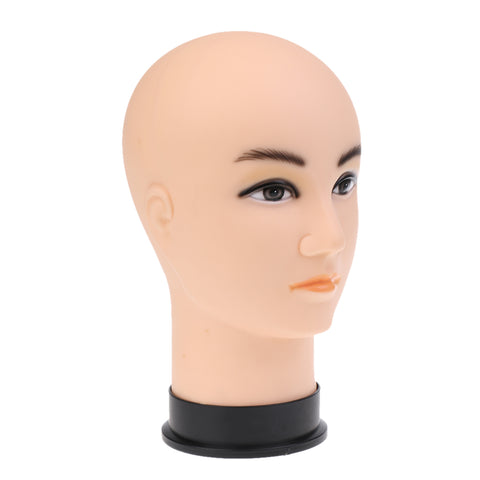 Image of 1 Piece Skin Color Male Head Model Wig Hair Hat Glasses Headscalf Scalf Display Stand Mannequin