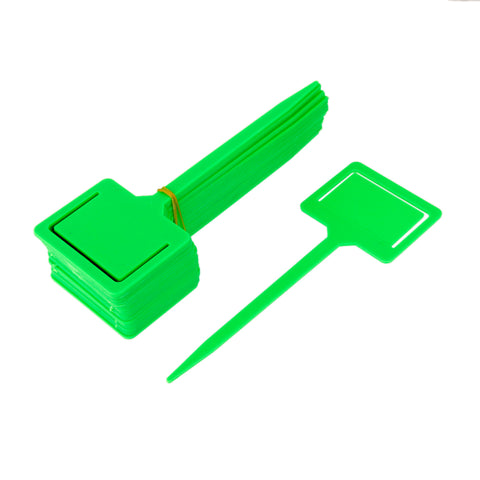 Image of 20x Plastic Tags Markers Garden Seed Packet Plant Flower Labels Holder Green