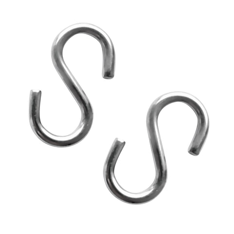 Image of 2 Pieces 4mm Thickness 40mm Long S Shaped Marine 316 Stainless Steel Hanging Hooks