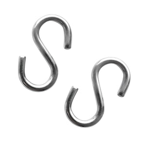 2 Pieces 4mm Thickness 40mm Long S Shaped Marine 316 Stainless Steel Hanging Hooks