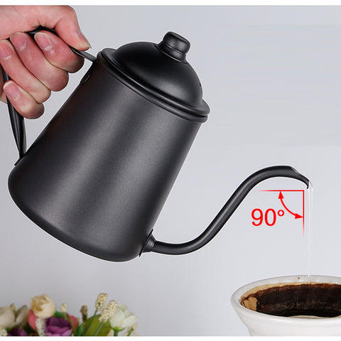 Image of 900ml Stainless Steel Tea Coffee Kettle, Gooseneck Thin Spout for Pour Over Coffee