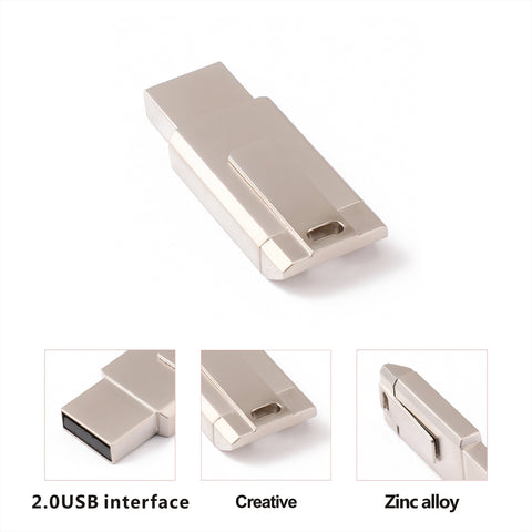 Image of Golden USB2.0 Flash U-Pen Drive Storage Memory Stick Disk Square Fashionable 32GB
