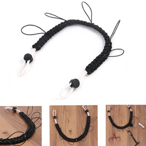 75cm Long Fishing Lanyard Necklace Line Nipper Forceps Scissors Pliers Box Holder with 5 Stations