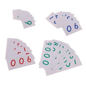 Montessori Mathematics 1-9000 Number Cards Paper for Math Counting Early Learning Toy