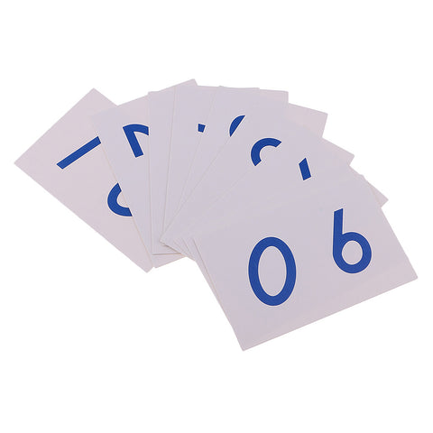 Image of Montessori Mathematics 1-9000 Number Cards Paper for Math Counting Early Learning Toy