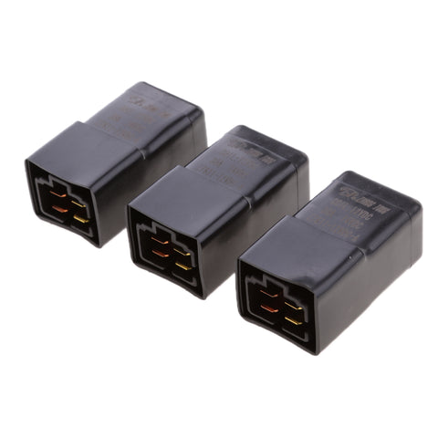 Image of 3 Pieces 12V 30A 4 Pin SPST Relay With Waterproof Case Automotive Electronic