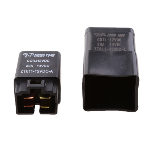 3 Pieces 12V 30A 4 Pin SPST Relay With Waterproof Case Automotive Electronic